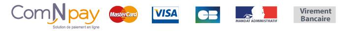 paiement CB virement bancaire mandat administratif